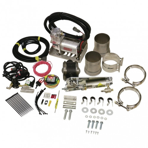 "BD-Power 1028140 4"" Remote Mount Exhaust Brake With Air Compressor Universal - For 4"" Exhaust Systems"