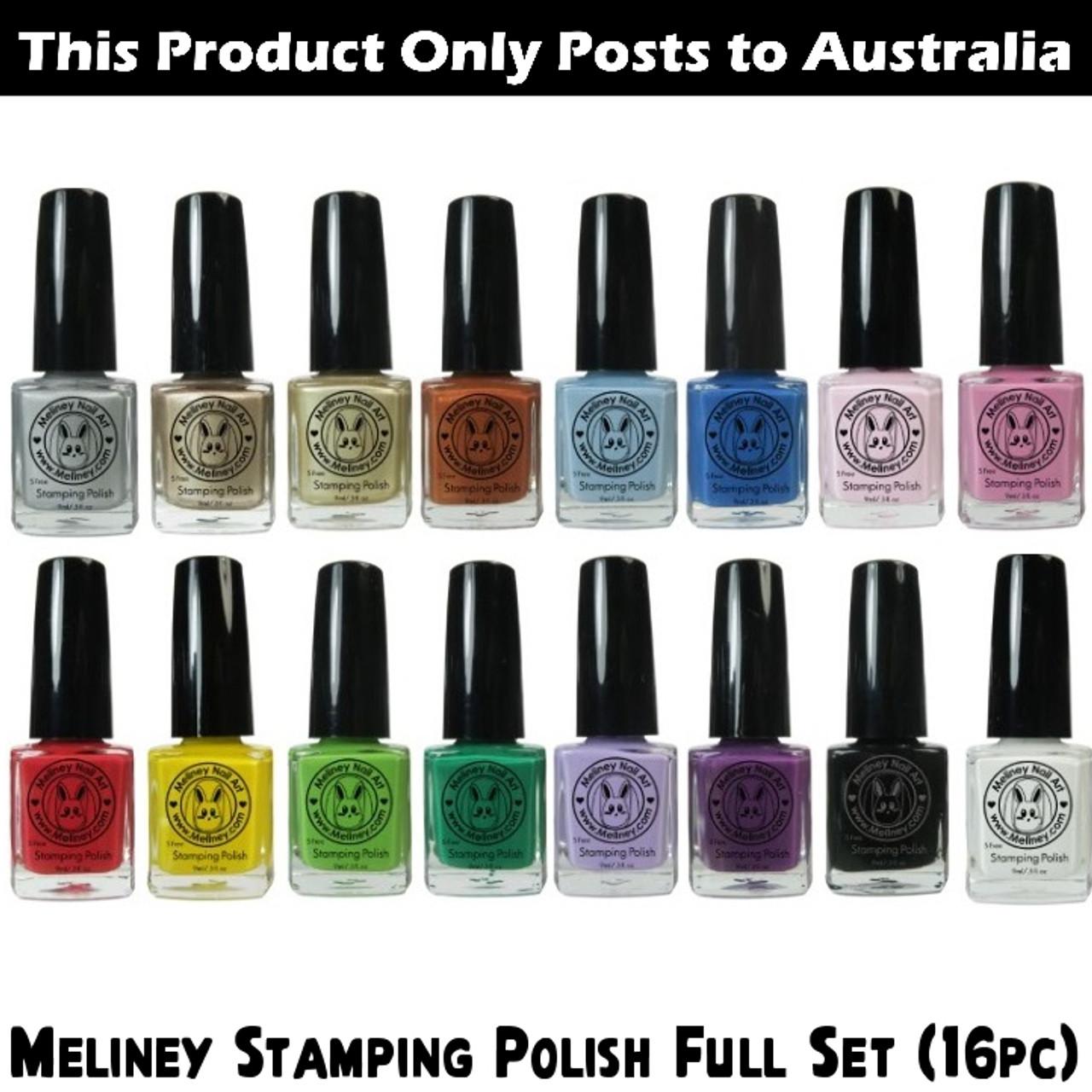 Meliney Nail Art Stamping Polish - Full Set 16pc