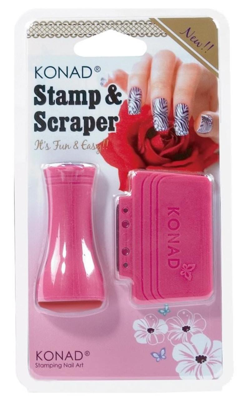 Konad Stamper & Scraper For Stamping Nail Art Designs