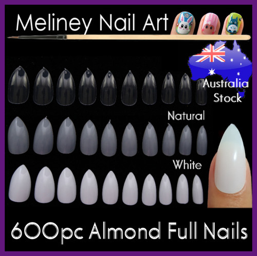 Almond oval stiletto pointy full cover nail tips