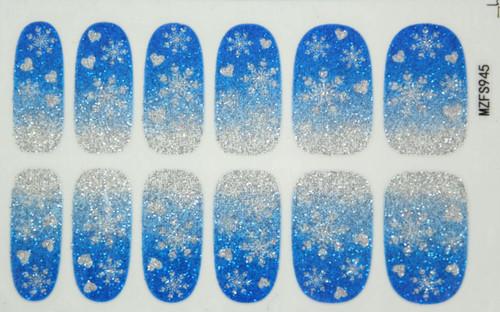 Glitter Nail Wrap - Snowflake