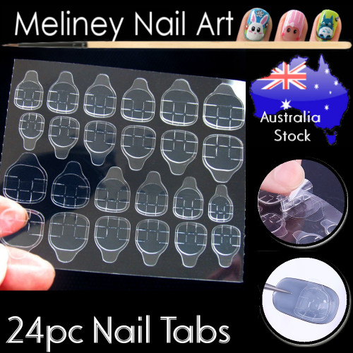 double sided nail sticker tabs