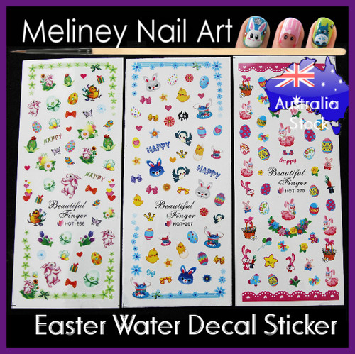 Easter water decal