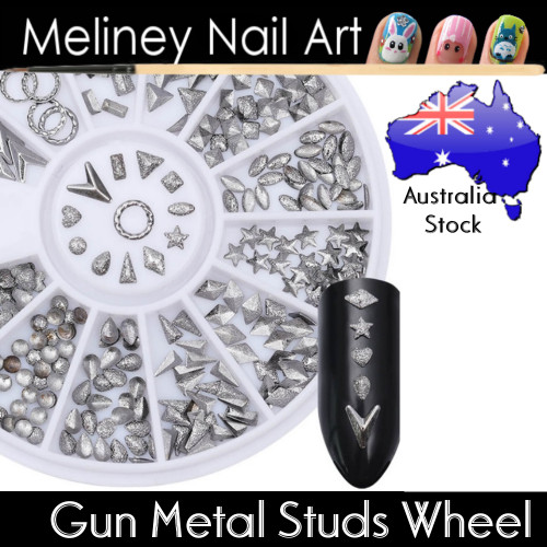 Gun Metal Studs Wheel
