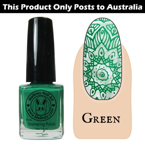 Meliney Nail Art Stamping Nail Polish 9ml Green