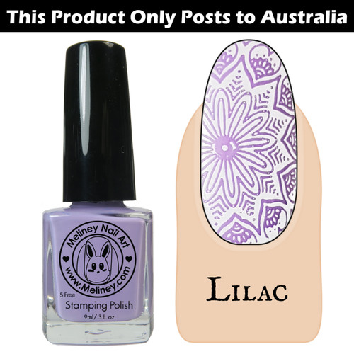 Meliney Nail Art Stamping Polish 9ml Lilac