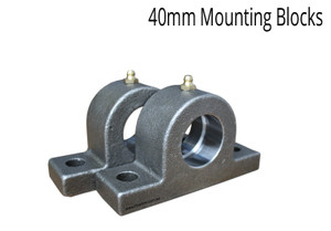 Heavy Duty Mounting foot / Mounting Blocks  40 mm Diameter For Hydraulic Rams