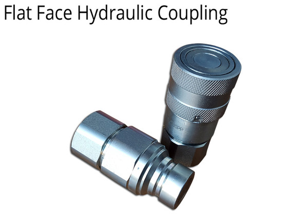"HYDRAULIC COUPLING 1/2"" BSPP THREADS FLAT FACE - 2 SETS"
