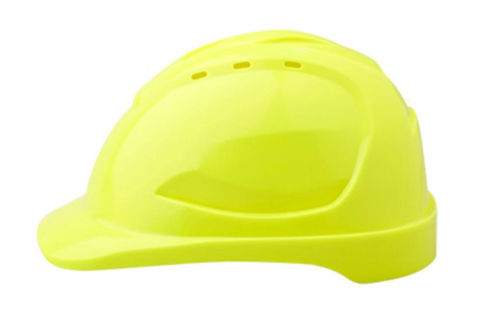 Hard Hat (V9) VENTED 6 Point PINLOCK Harness FLUORO YLW