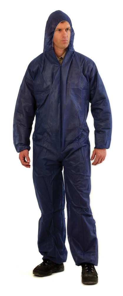 Disposable PP (polypropylene) Coverall BLUE L