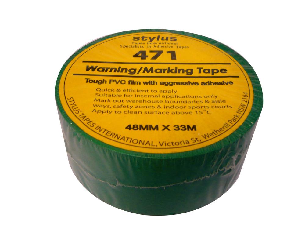 48mm 471 Floor Marking Tape 33mtr roll GREEN
