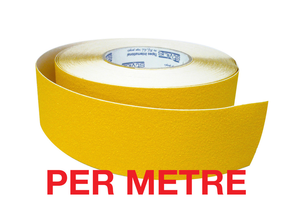 50mm Anti-Slip Tape YELLOW - PER METRE