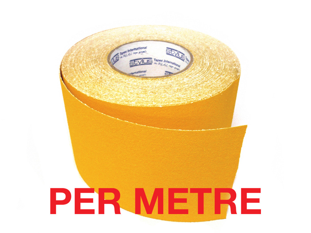 100mm Anti-Slip Tape YELLOW - PER METRE