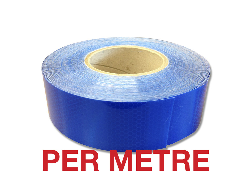 50mm Class 1 Reflective Tape BLUE - PER METRE