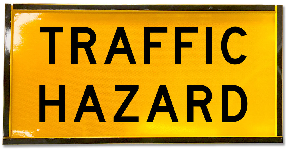 1200x600 Box Section TRAFFIC HAZARD