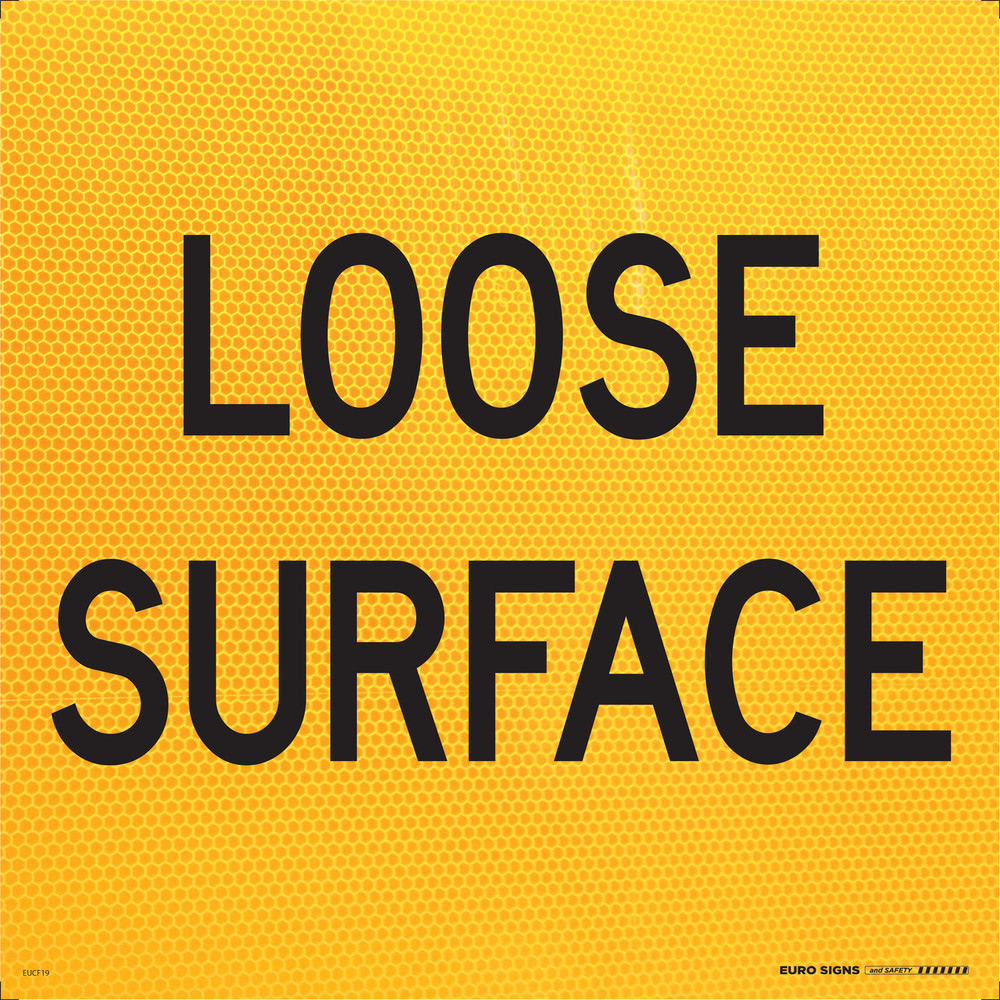LOOSE SURFACE 600x600 CORFLUTE HI-INT BLK/YELLOW