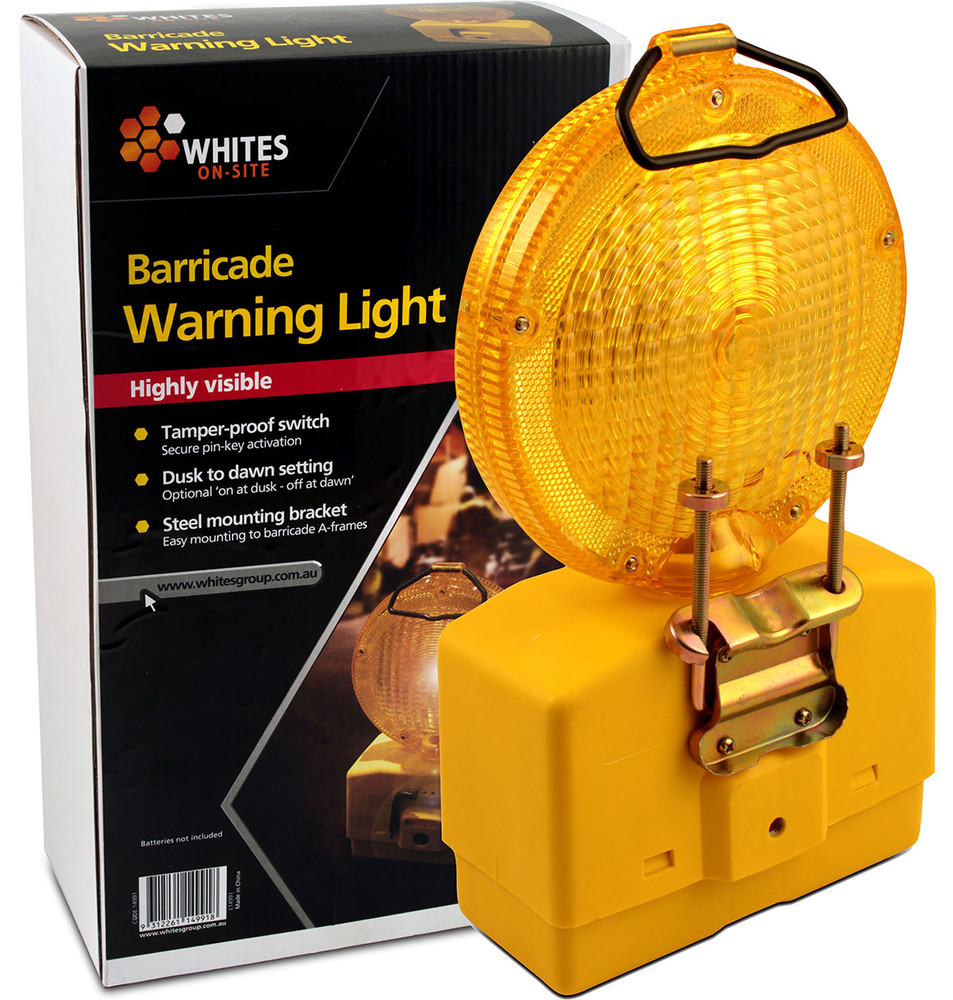 Barricade Warning Light c/w bracket