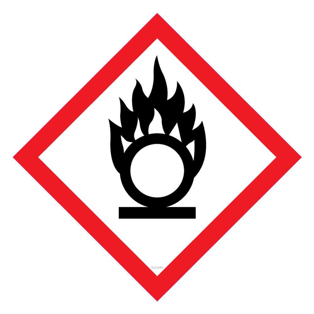 GHS Label OXIDISING 15x15 - Pack x40 Decals