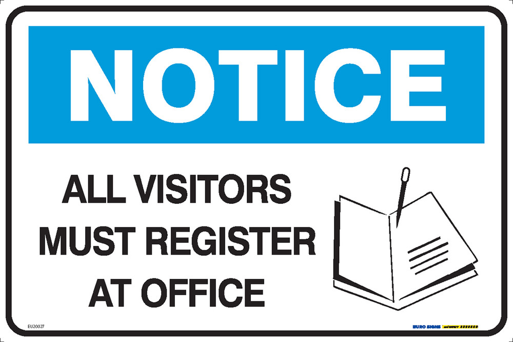 NOTICE MUST REGISTER AT OFFICE BOOK 450x300 MTL