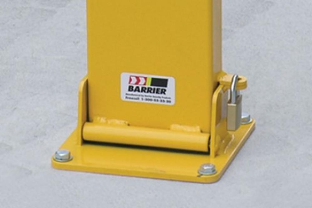 Fold down bollard 150 x 50 x 800mm (80mm down) – PADLOCK lockable
