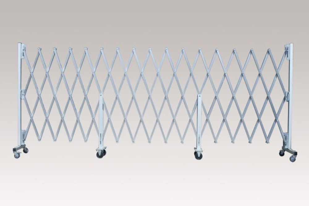 Port-a-guard Maxi expanding barrier 1430mm x 6.7m - Silver