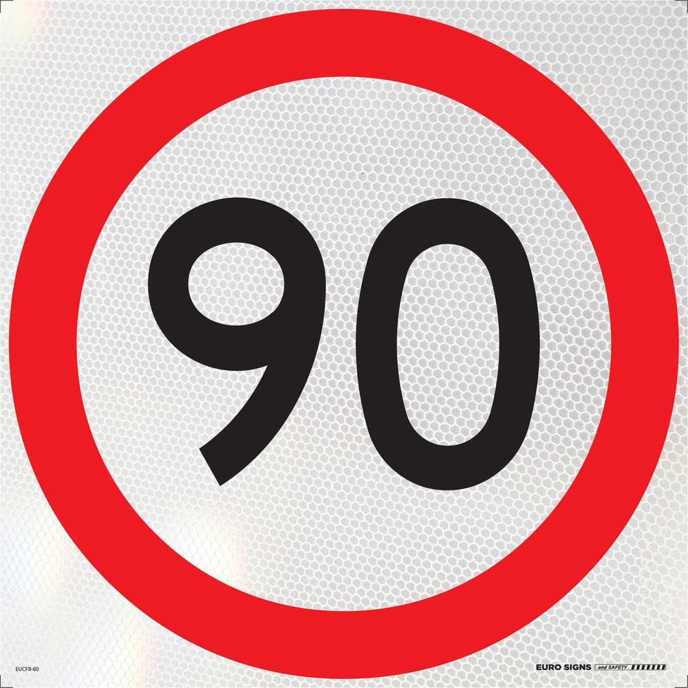 90- 600x600 Corflute HI-INT BLK/RED/WHT
