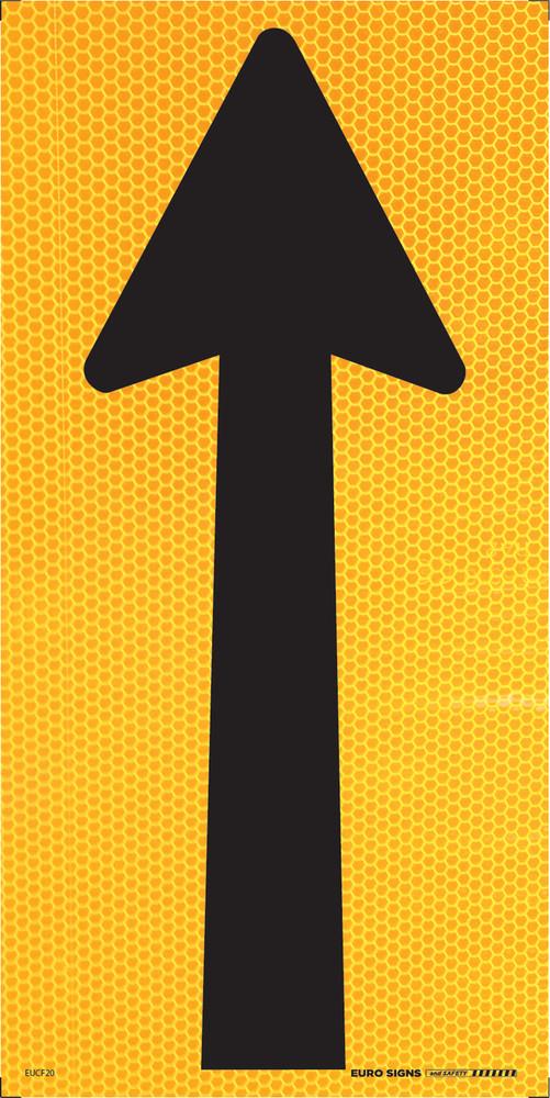 ARROW symbol 300x600 Corflute HI-INT BLK/YLW