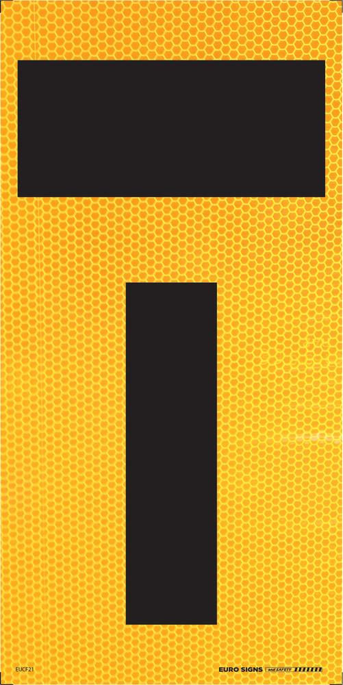 T- symbol 300x600 Corflute HI-INT BLK/YLW