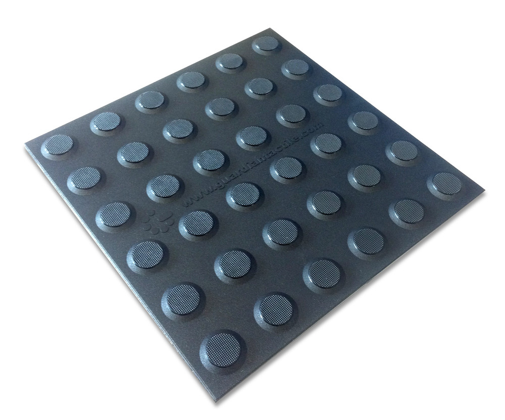 Tactile 300x300 Self Adhesive Polyurethane BLACK (CHARCOAL)