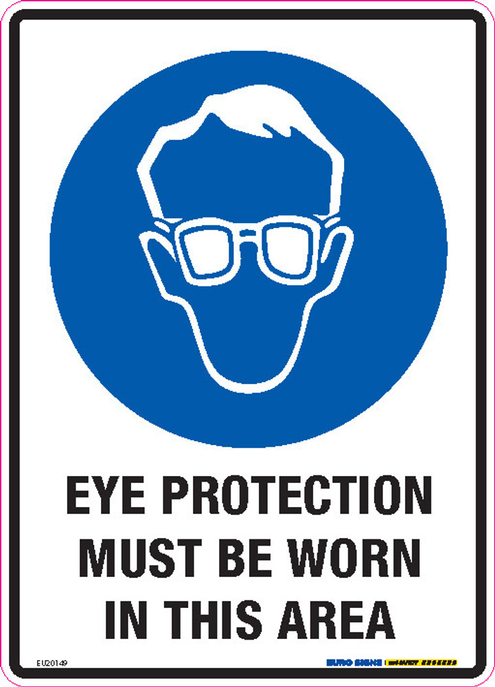 EYE PROTECT MUST BE WORN IN THIS AREA 180x250 DECAL