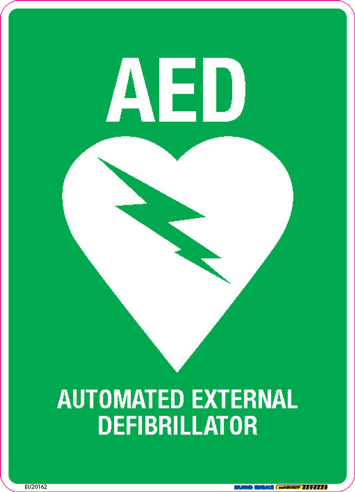 AED - AUTOMATED EXTERNAL DEFIBRILLATOR 180x250 DECAL