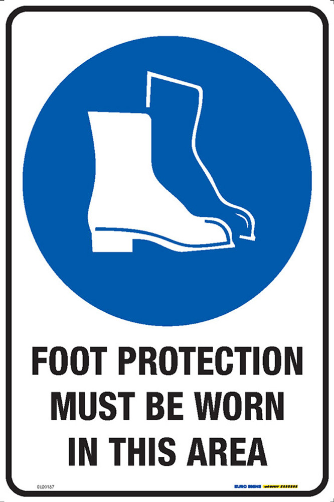 FOOT PROTECT MUST BE WORN IN THIS AREA 300x450 MTL