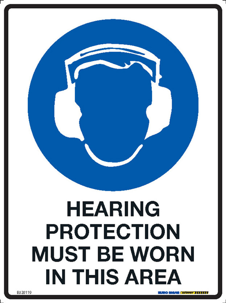 HEARING PROTECT. MUST BE WORN IN THIS AREA 225x300 MTL