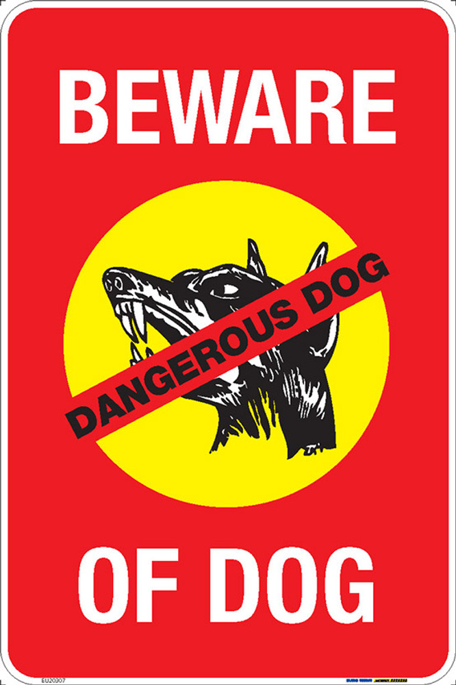 BEWARE OF DOG - 300x450 MTL