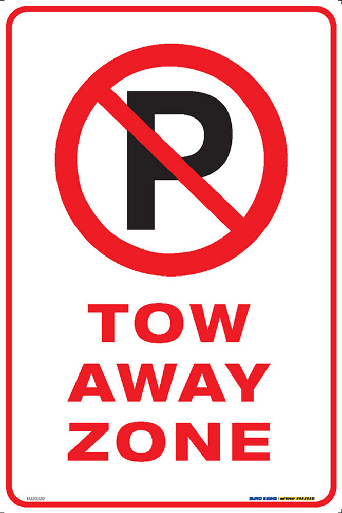 NO PARKING TOW AWAY ZONE 300x450 MTL