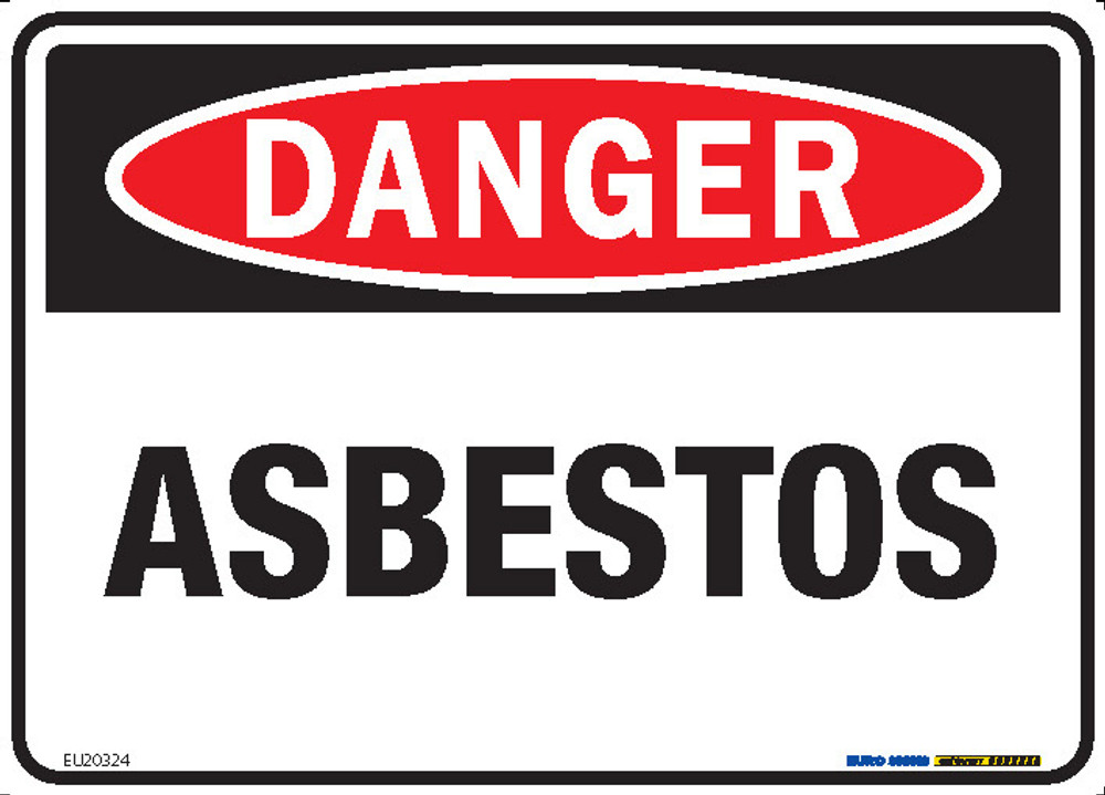 DANGER ASBESTOS 250x180 DECAL