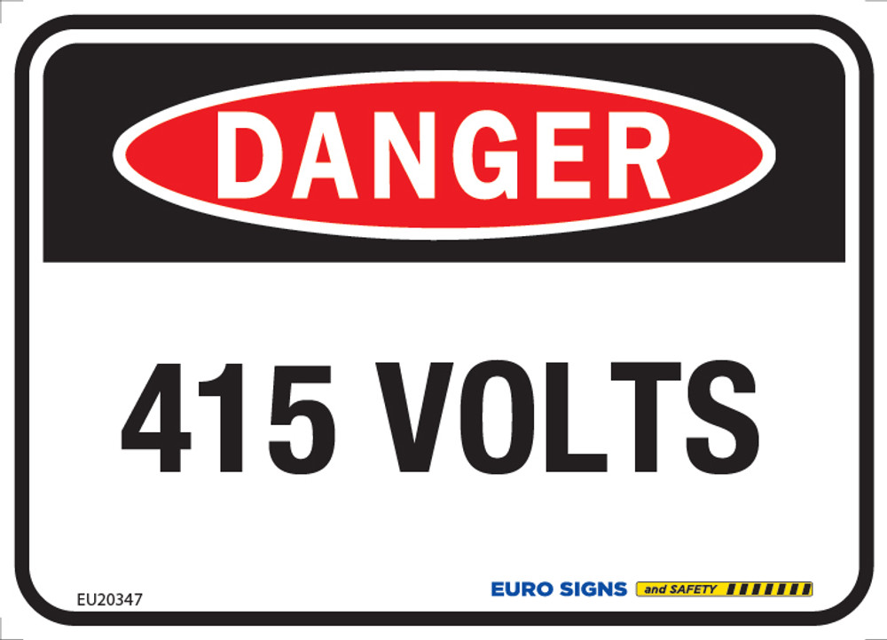 DANGER 415 VOLTS 125x90 DECAL