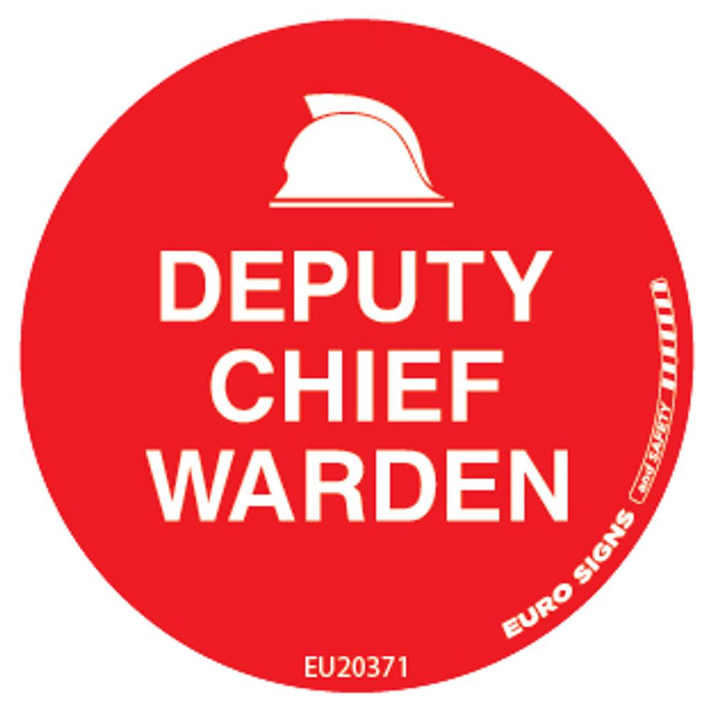DEPUTY CHIEF WARDEN 50MM DECAL