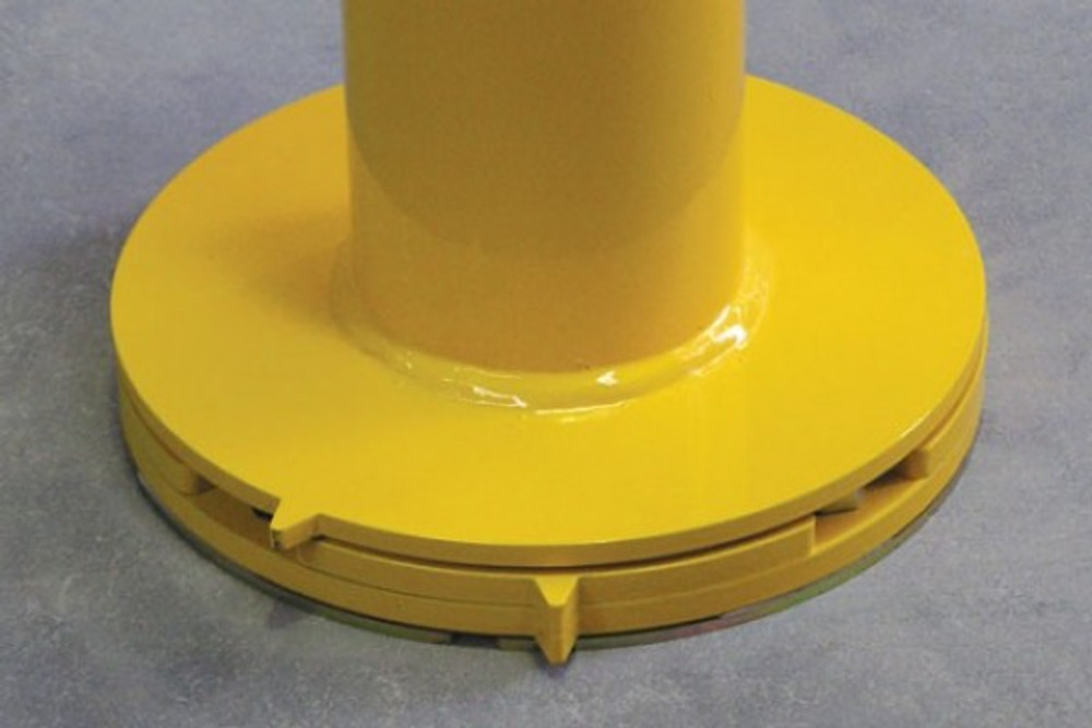 CAM-LOK 90mm dia.surface mount bollard Galv & P/Coat (SMCLH req.)