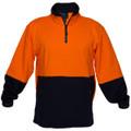 Hi Vis Cotton 1/4 Zip Fleece ORG/NVY A/Pill A/Static (Large)