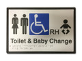 UNISEX ACCESSIBLE BABY CHANGE RH Braille 296x200 Silver/Black