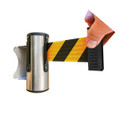 Neata Wall mount belt barrier - YLW/BLK 3.0m