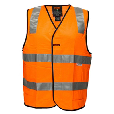 LARGE orange Day Night Safety Vest