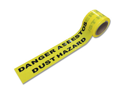 Warning Tape ASBESTOS DUST HAZARD 60mx75mm