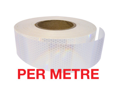 50mm Class 1 Reflective Tape WHITE - PER METRE