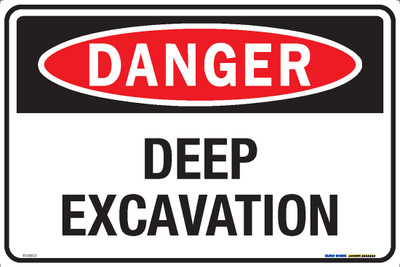 DANGER DEEP EXCAVATION 450x300 MTL