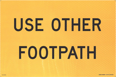 900x600 USE OTHER FOOTPATH - CORFLUTE