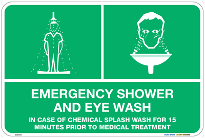 EMERGENCY SHOWER/EYE WASH COMBINED 450x300 POLY