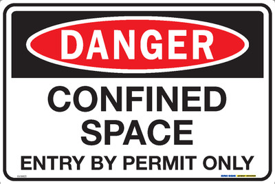 DANGER CONFINED SPACE ENTRY PERMIT 450x300 MTL