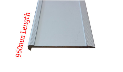 Aluminium Slimline Stair Nosing 960mm RAW 80x10mm - Ramp Back